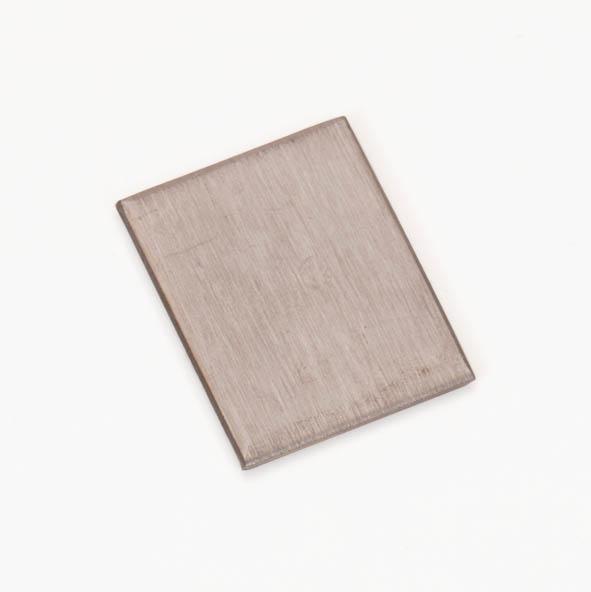 Plaque métallique