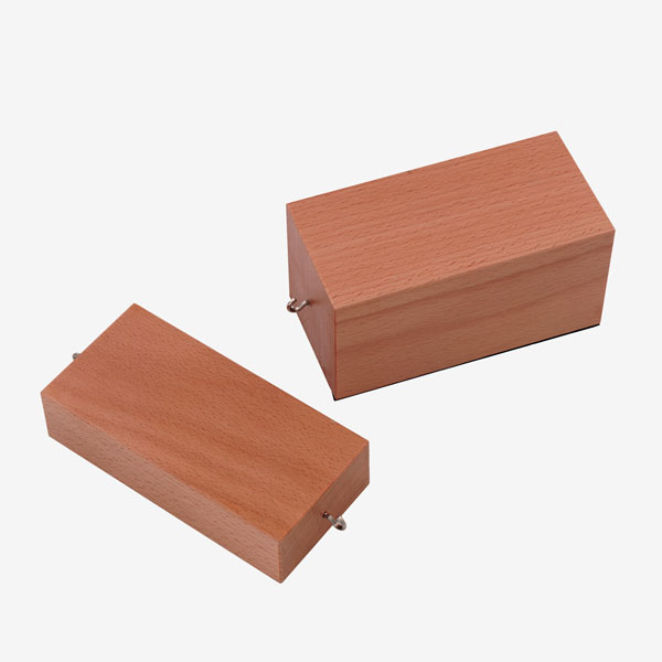 Blocs en bois pour l'étude des frottements, paire
