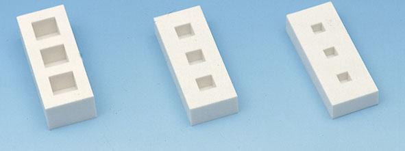 Moules pour éprouvettes cubiques, jeu de 3