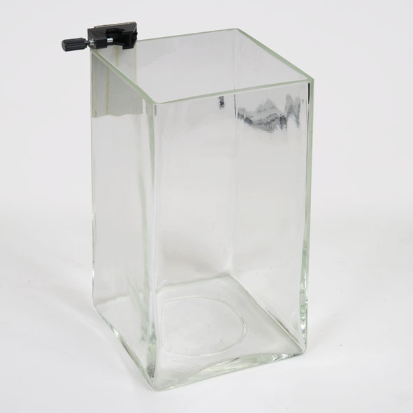 Récipient en verre pour le manoscope