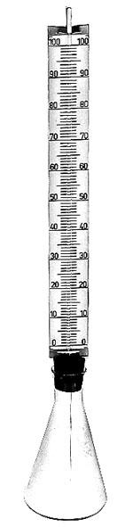 Modèle de thermomètre en verre