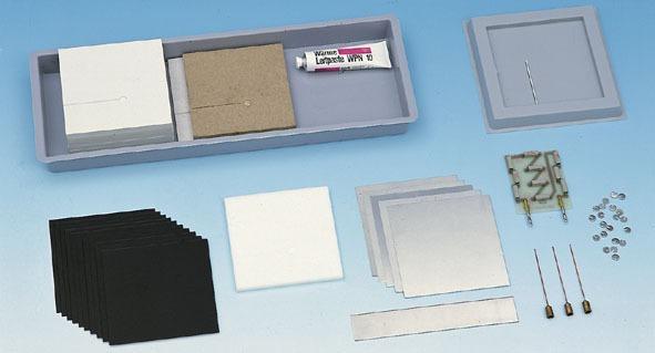 Échantillons de matériaux de construction pour la chambre calorimétrique