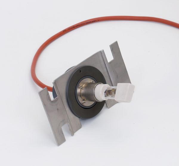 Lampe spectrale au cadmium, sur plaque support