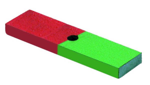 Aimant perforé à pôles en couleur