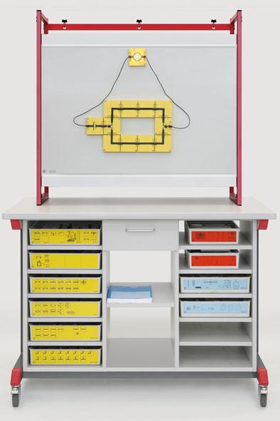 Équipement complet Meuble de démonstration mobile : mécanique-optique-électricité (BST)