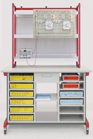Équipement complet Meuble de démonstration mobile : mécanique-optique-électricité (STE)