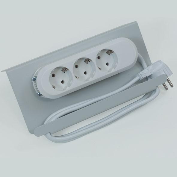 Connecteur multiple sur support métallique