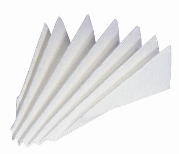 Filtre plissé, sorte 595, 125 mm Ø, lot de 100