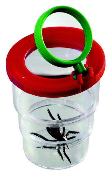 Boîte-loupe avec couvercle à deux lentilles