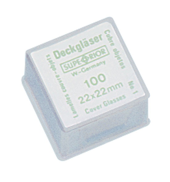 Lamelle couvre-objet, 22 x 22 mm, lot de 100