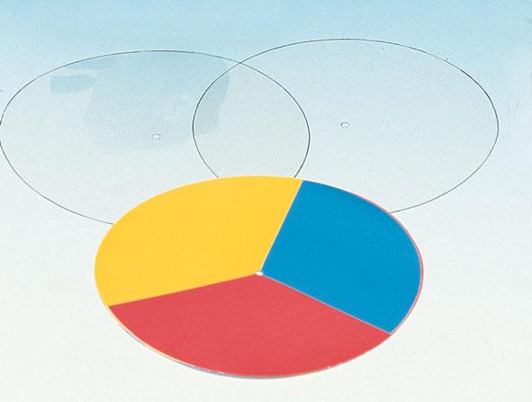 Disques en couleur, jeu de 3