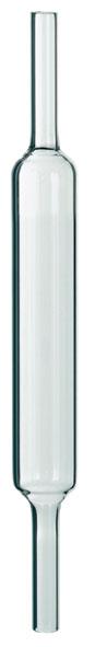 Tube à réaction en verre quartzeux, 220 x 25 mm Ø, pour la combustion du butane