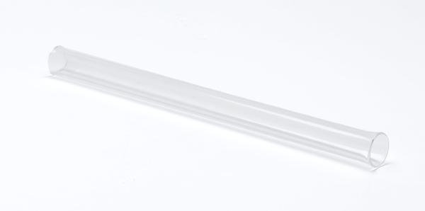 Tube à réaction, verre quartzeux, 300 x 20 mm Ø