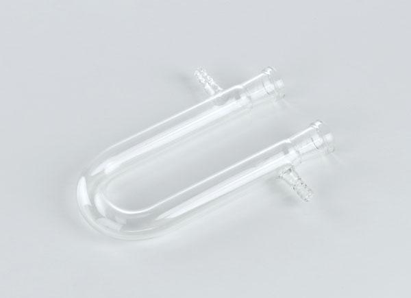 Tube en U, 160 x 22 mm, 2 tubulures latérales