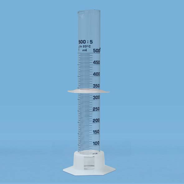 Éprouvette graduée 500 ml, avec pied en plastique