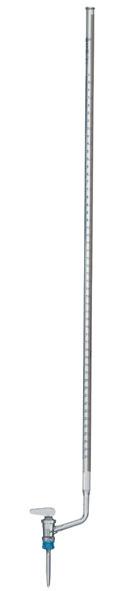 Burette en verre clair, 25 ml, robinet latéral (PTFE)