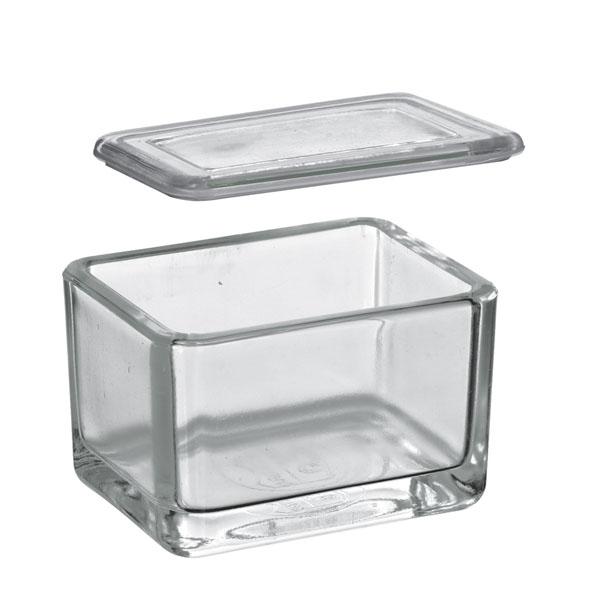 Glaskasten mit Falzdeckel