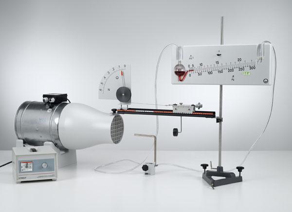Résistance de l'air en fonction de la vitesse du vent et de la forme de l'objet - mesure de la pression avec le manomètre de précision