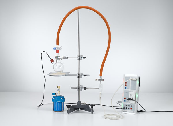 Relevé de la courbe de la pression de vapeur de l'eau - pressions jusqu'à 1 bar