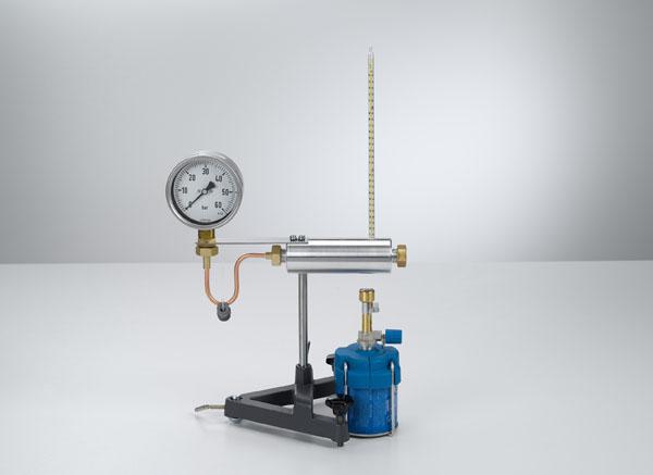 Relevé de la courbe de la pression de vapeur de l'eau - pressions jusqu'à 50 bars