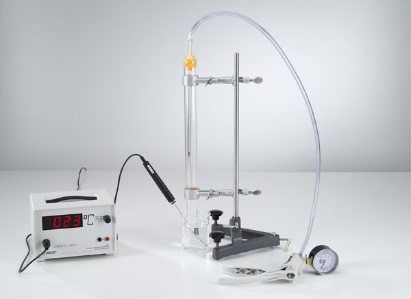 Variation du volume du gaz en fonction de la température à pression constante (loi de Gay-Lussac)