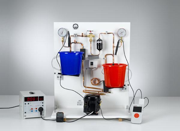 Détermination du coefficient d'efficacité de la pompe à chaleur en fonction de la différence de température