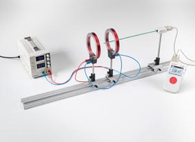 Mesure du champ magnétique sur une paire de bobines dans un dispositif de Helmholtz