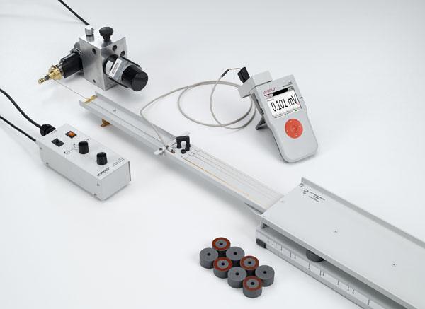 Mesure d'une force électromotrice induite dans une boucle conductrice déplacée à travers un champ magnétique