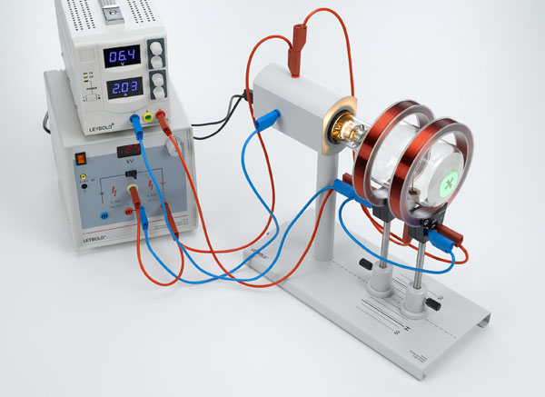 Déviation des électrons dans un champ magnétique axial