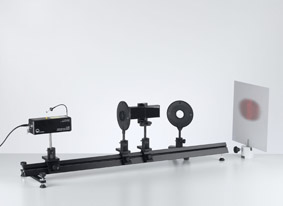 Interférence sur le miroir de Fresnel avec un laser He-Ne