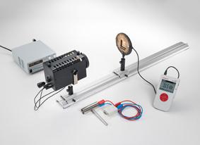 Détermination de l'intensité du rayonnement et de l'intensité lumineuse d'une lampe à halogène