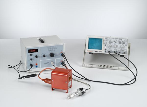 Expérience de Franck-Hertz avec le mercure - Tracé avec l'oscilloscope