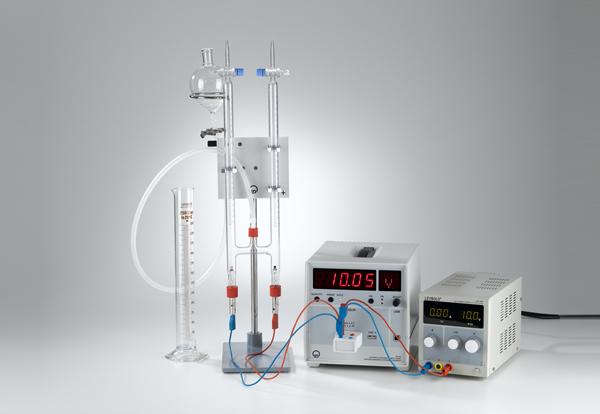 Décomposition par électrolyse de l'eau selon Hofmann en utilisant du matériel de support