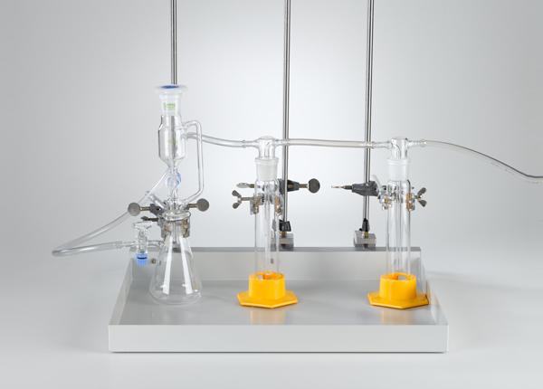 Fabrication de gaz avec un entonnoir à robinet