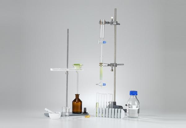Séparation d'un extrait de feuille par la chromatographie sur colonne